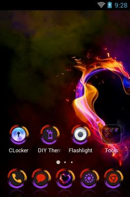 Vibrant Heart android theme home screen