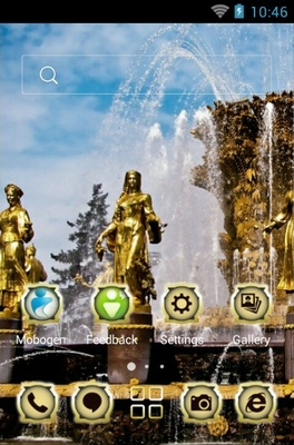 Moscow Fountain android theme home screen