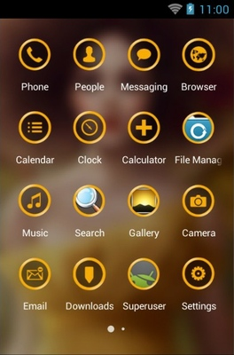 Fairy In Yellow Dress android theme application menu