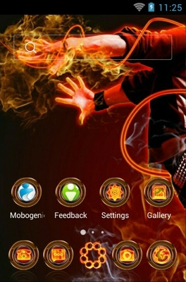 Party Dance android theme home screen