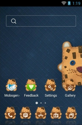 Kitten android theme home screen