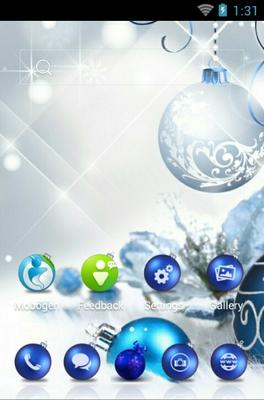 Christmas Balls android theme home screen