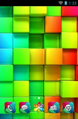 android theme 'Colorful Blocks'