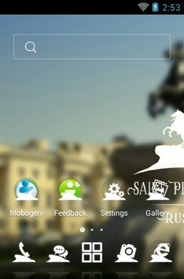 Saint Petersburg android theme home screen