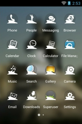 Saint Petersburg android theme application menu