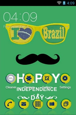 android theme 'Happy Brazil Independence'