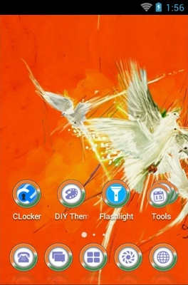 Free Birds android theme home screen
