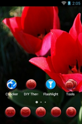 Tulip Flower android theme home screen