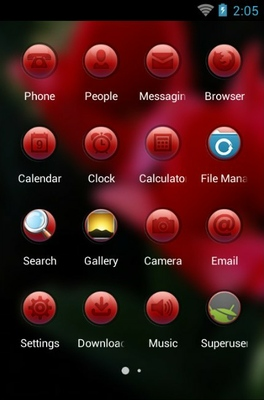 Tulip Flower android theme application menu