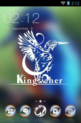 android theme 'Kingfisher bird'