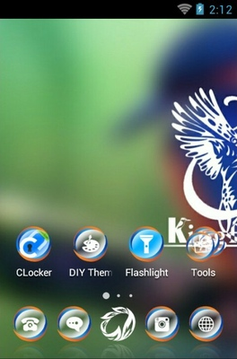 Kingfisher bird android theme home screen
