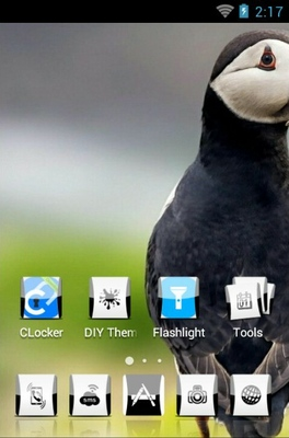Atlantic Puffin android theme home screen