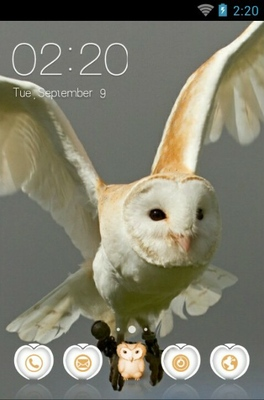 af07bc9c Barn Owl Android Theme For CLauncher | androidlooks.com