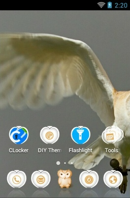 Barn Owl android theme home screen