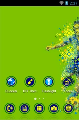 Brazil Independence android theme home screen