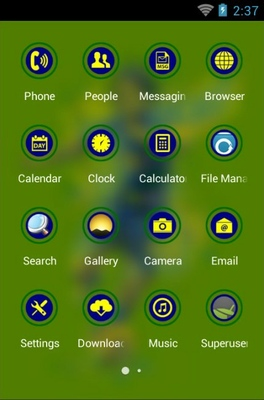 Brazil Independence android theme application menu