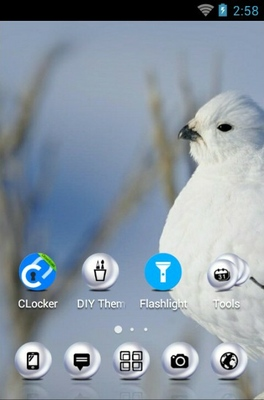 Willow Ptarmigan android theme home screen