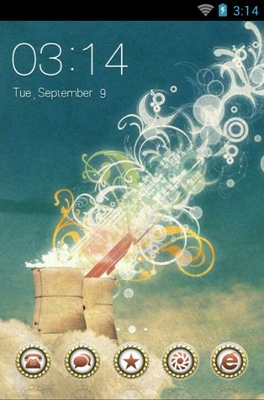 android theme 'Heavenly Abstraction'