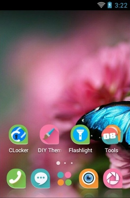 Flower Of Attachment android theme home screen