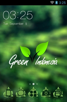 android theme 'Green Indonesia'