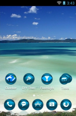 Queensland Island android theme home screen