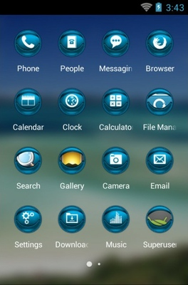 Queensland Island android theme application menu
