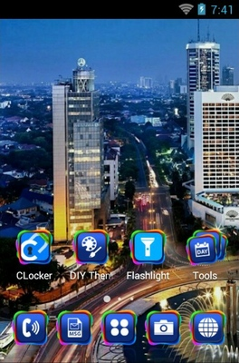 Jakarta City android theme home screen