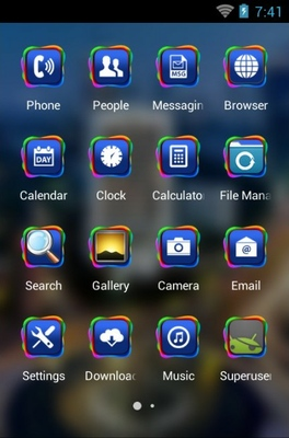 Jakarta City android theme application menu
