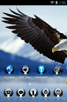 Golden Eagle android theme home screen