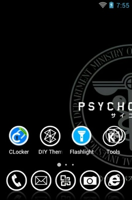 Psycho-Pass android theme home screen