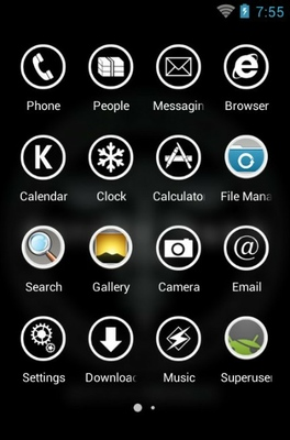 Psycho-Pass android theme application menu