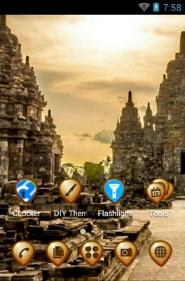 Sewu Temple android theme home screen