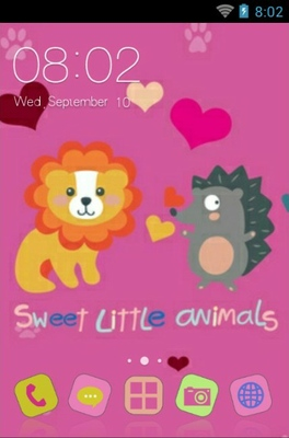 android theme 'Sweet Little Animals'