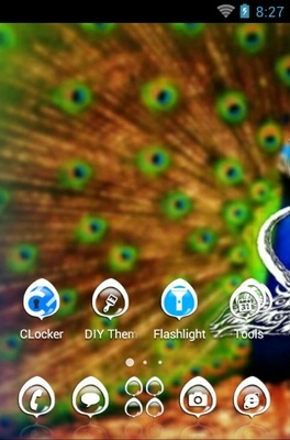 Peafowl android theme home screen
