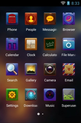 Colorful Sky android theme application menu