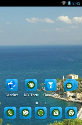 Pigeon Island android theme home screen