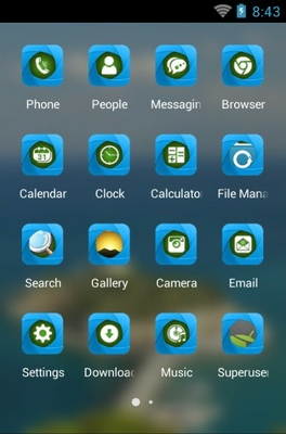 Pigeon Island android theme application menu