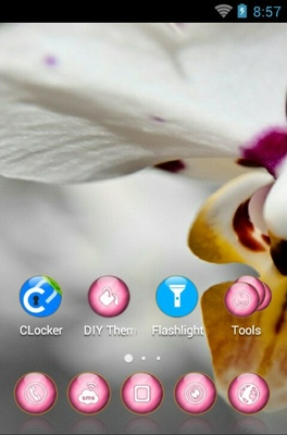 Lovely Orchid android theme home screen
