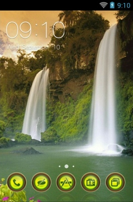 android theme 'Two Sisters Waterfall'