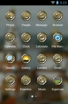 Epiphany Cathedral android theme application menu