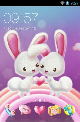 android theme 'Love Of The Rabbit'