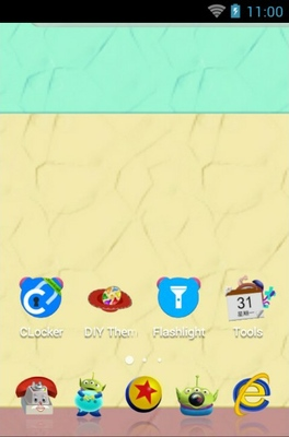 Toy Story android theme home screen