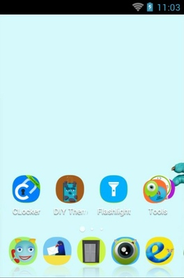 Monsters University android theme home screen