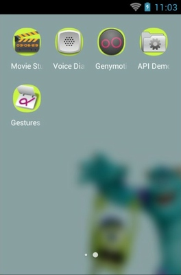 Monsters University android theme application menu