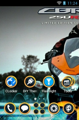 Honda CBR 250r android theme home screen