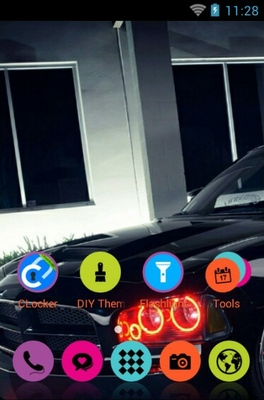 Dodge Charger android theme home screen