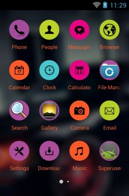 Dodge Charger android theme application menu