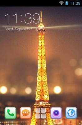 android theme 'Night View Of Paris'