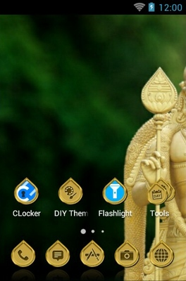 Batu Caves android theme home screen