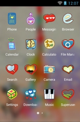 Love Is Romantic android theme application menu